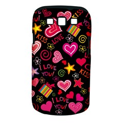 Love Hearts Sweet Vector Samsung Galaxy S III Classic Hardshell Case (PC+Silicone)