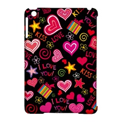 Love Hearts Sweet Vector Apple iPad Mini Hardshell Case (Compatible with Smart Cover)