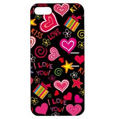 Love Hearts Sweet Vector Apple iPhone 5 Hardshell Case with Stand
