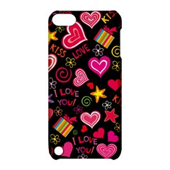 Love Hearts Sweet Vector Apple Ipod Touch 5 Hardshell Case With Stand