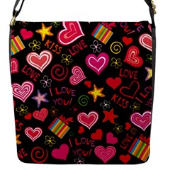 Love Hearts Sweet Vector Flap Messenger Bag (S)