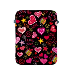 Love Hearts Sweet Vector Apple iPad 2/3/4 Protective Soft Cases