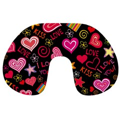 Love Hearts Sweet Vector Travel Neck Pillows