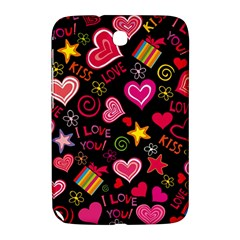 Love Hearts Sweet Vector Samsung Galaxy Note 8.0 N5100 Hardshell Case
