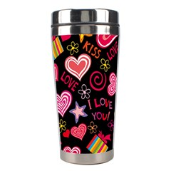 Love Hearts Sweet Vector Stainless Steel Travel Tumblers