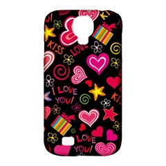 Love Hearts Sweet Vector Samsung Galaxy S4 Classic Hardshell Case (PC+Silicone)