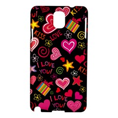 Love Hearts Sweet Vector Samsung Galaxy Note 3 N9005 Hardshell Case