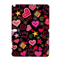 Love Hearts Sweet Vector Galaxy Note 1