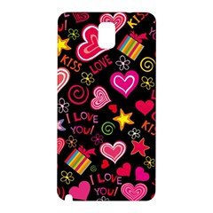 Love Hearts Sweet Vector Samsung Galaxy Note 3 N9005 Hardshell Back Case
