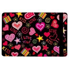 Love Hearts Sweet Vector iPad Air 2 Flip