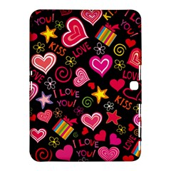 Love Hearts Sweet Vector Samsung Galaxy Tab 4 (10.1 ) Hardshell Case