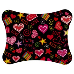 Love Hearts Sweet Vector Jigsaw Puzzle Photo Stand (Bow)