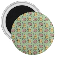 Cute Hamster Pattern 3  Magnets