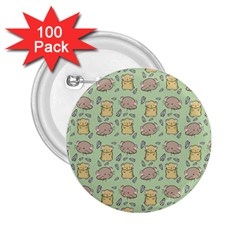 Cute Hamster Pattern 2.25  Buttons (100 pack)