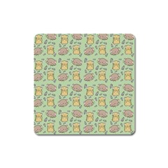 Cute Hamster Pattern Square Magnet
