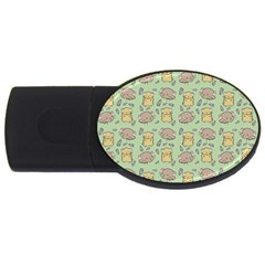 Cute Hamster Pattern Usb Flash Drive Oval (2 Gb)