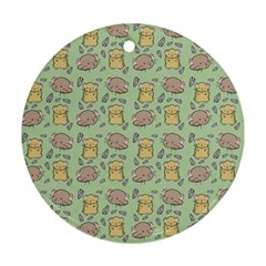 Cute Hamster Pattern Round Ornament (Two Sides)