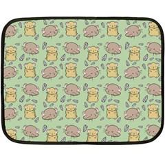 Cute Hamster Pattern Fleece Blanket (mini)