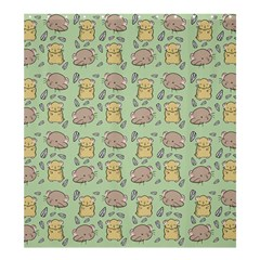 Cute Hamster Pattern Shower Curtain 66  x 72  (Large)