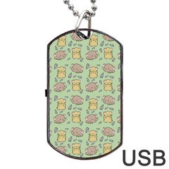 Cute Hamster Pattern Dog Tag USB Flash (Two Sides)