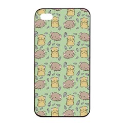 Cute Hamster Pattern Apple iPhone 4/4s Seamless Case (Black)