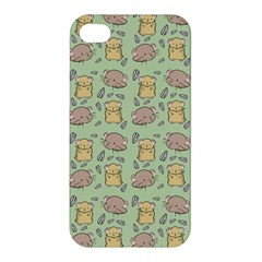 Cute Hamster Pattern Apple iPhone 4/4S Premium Hardshell Case