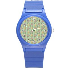 Cute Hamster Pattern Round Plastic Sport Watch (S)