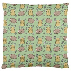 Cute Hamster Pattern Large Cushion Case (One Side)