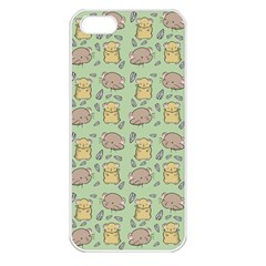 Cute Hamster Pattern Apple iPhone 5 Seamless Case (White)