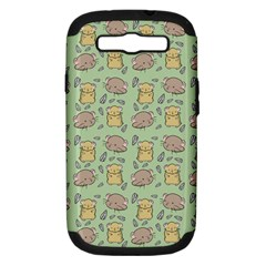 Cute Hamster Pattern Samsung Galaxy S III Hardshell Case (PC+Silicone)