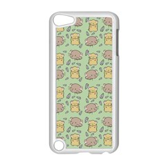 Cute Hamster Pattern Apple iPod Touch 5 Case (White)