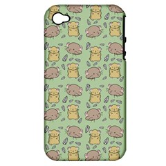 Cute Hamster Pattern Apple iPhone 4/4S Hardshell Case (PC+Silicone)