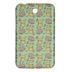 Cute Hamster Pattern Samsung Galaxy Tab 3 (7 ) P3200 Hardshell Case