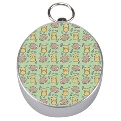Cute Hamster Pattern Silver Compasses
