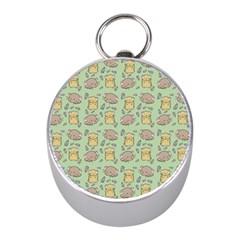 Cute Hamster Pattern Mini Silver Compasses