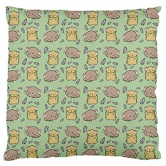 Cute Hamster Pattern Large Flano Cushion Case (one Side)