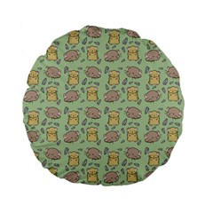 Cute Hamster Pattern Standard 15  Premium Flano Round Cushions