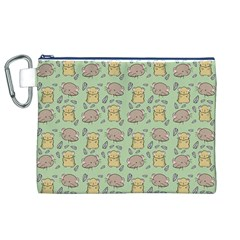 Cute Hamster Pattern Canvas Cosmetic Bag (XL)