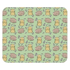 Cute Hamster Pattern Double Sided Flano Blanket (Small)