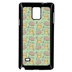 Cute Hamster Pattern Samsung Galaxy Note 4 Case (black)