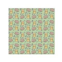 Cute Hamster Pattern Small Satin Scarf (Square)