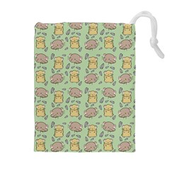 Cute Hamster Pattern Drawstring Pouches (Extra Large)