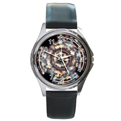 Science Fiction Background Fantasy Round Metal Watch