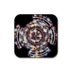 Science Fiction Background Fantasy Rubber Coaster (Square)