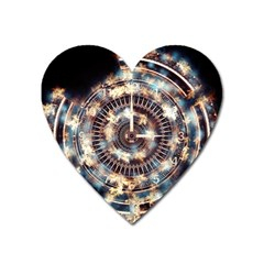 Science Fiction Background Fantasy Heart Magnet