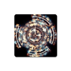 Science Fiction Background Fantasy Square Magnet