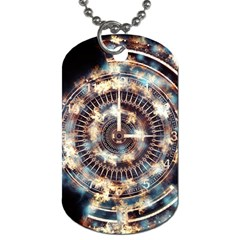 Science Fiction Background Fantasy Dog Tag (One Side)