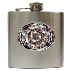 Science Fiction Background Fantasy Hip Flask (6 Oz)