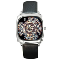 Science Fiction Background Fantasy Square Metal Watch