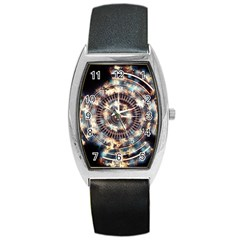 Science Fiction Background Fantasy Barrel Style Metal Watch